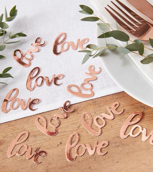 "Konfetti ""Love"" - rosegold - 14 g"