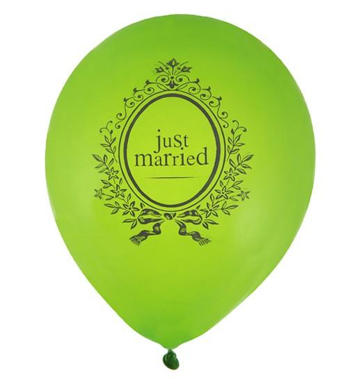 """Luftballons """"Just Married"""" - grün - 8 Stück"""