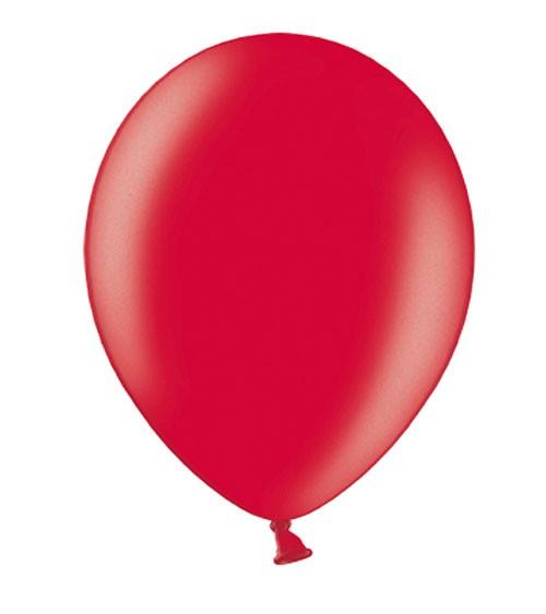Metallic-Luftballons - rot - 10 Stück