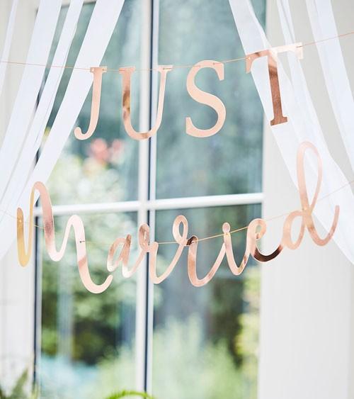 "Schriftzuggirlande ""Just Married - rosegold - 2-teilig"