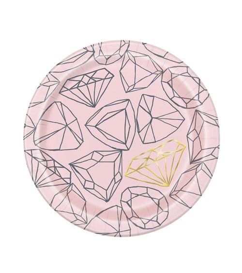 """Kleine Pappteller """"Golden Diamond"""" - 8 Stück"""