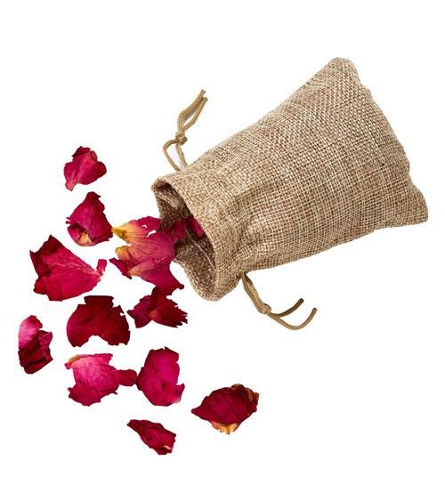 Echte Rosenblätter im Jutesäckchen - 10 g