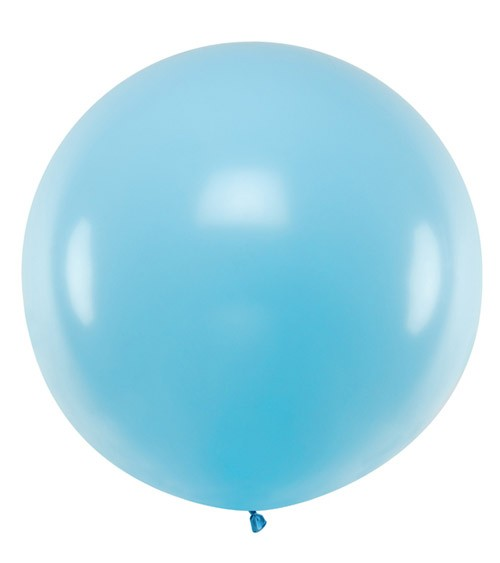 Riesiger Rundballon - pastell hellblau - 1 m