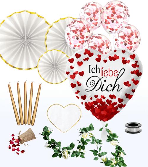 """Deko-Set """"Love You"""" - 42-teilig"""