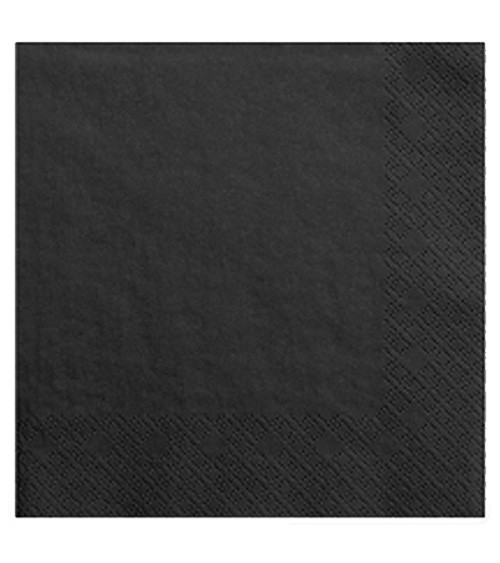 Servietten - schwarz - 20 Stück