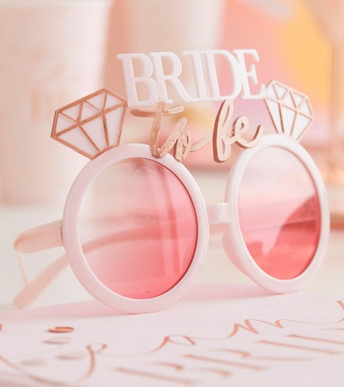 Bride to be Partybrille - rosa