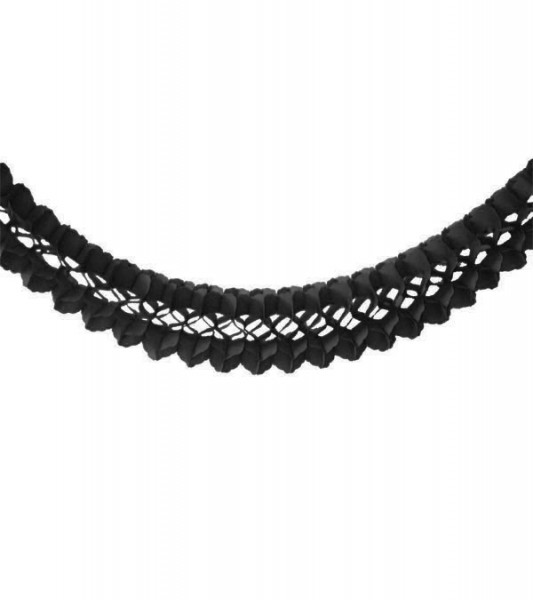 Schwarze Girlande aus Seidenpapier - Länge 4 m