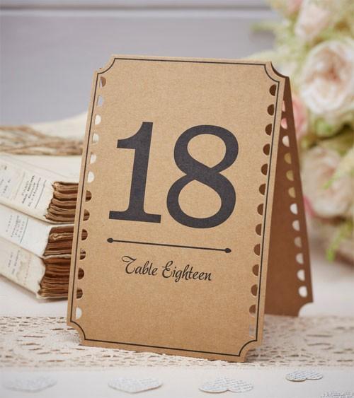 """Tischnummern """"Vintage-Hochzeit"""" - 13 bis 24"""