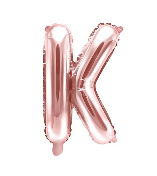 "Folienballon Buchstabe ""K"" - rosegold - 35 cm"