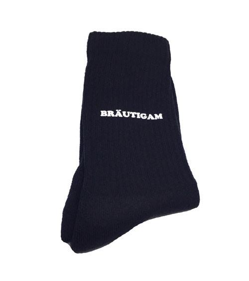"""Hochzeits-Socken """"Bräutigam""""- schwarz"""