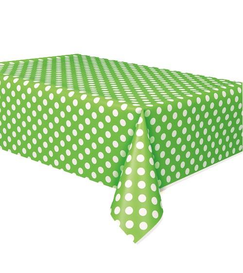 """Kunststoff-Tischdecke """"Big Dots"""" - hellgrün - 137 x 274 cm"""