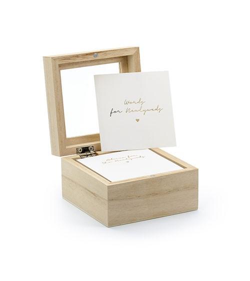 Hochzeits-Holzbox mit Advice Cards - 9,5 cm