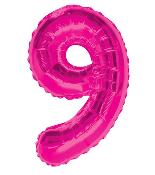 "Supershape-Folienballon ""9"" - pink"