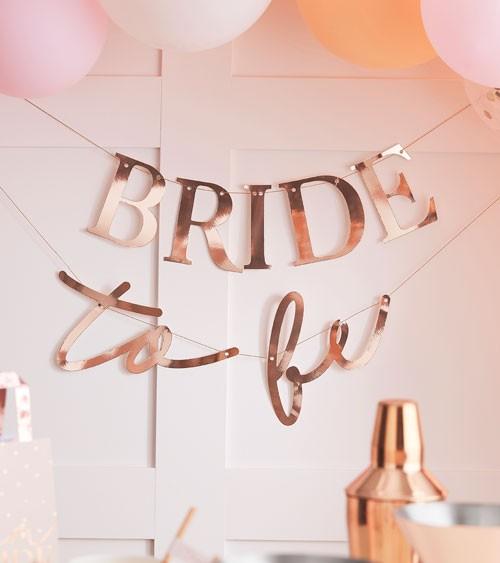 Bride to be-Girlande - rosegold - 2-teilig - 1,5 m