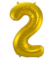 "SuperShape Folienballon ""2"" - gold"