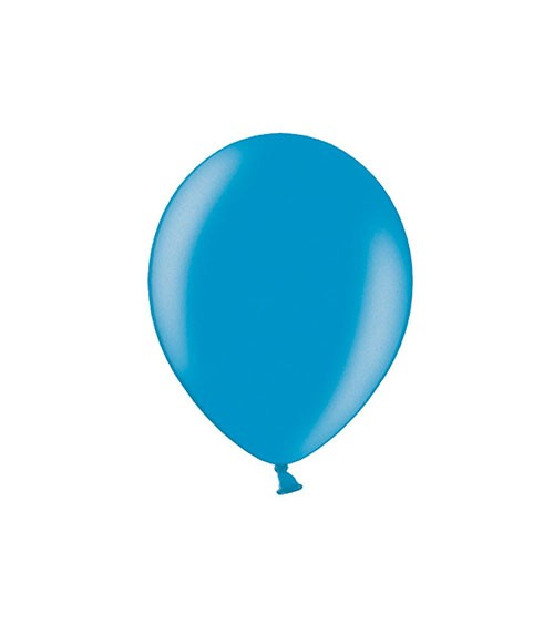 Mini-Luftballons - metallic caribbean blue - 12 cm - 100 Stück