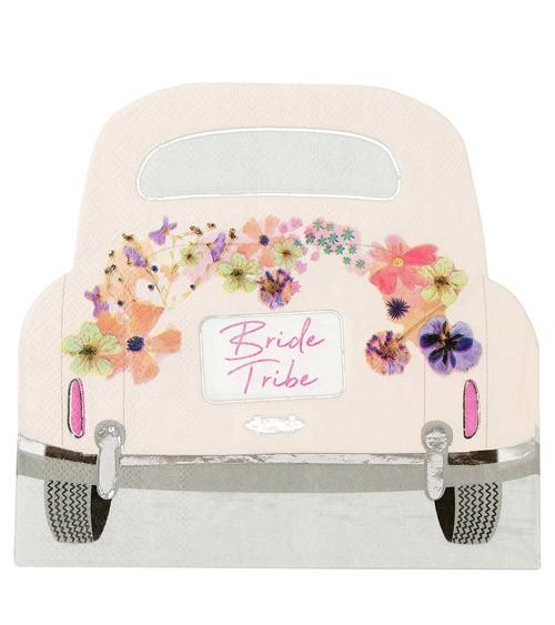"Shape-Servietten Auto ""Bride Tribe"" - 16 Stück"