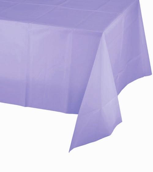 Lavendelfarbene Tischdecke